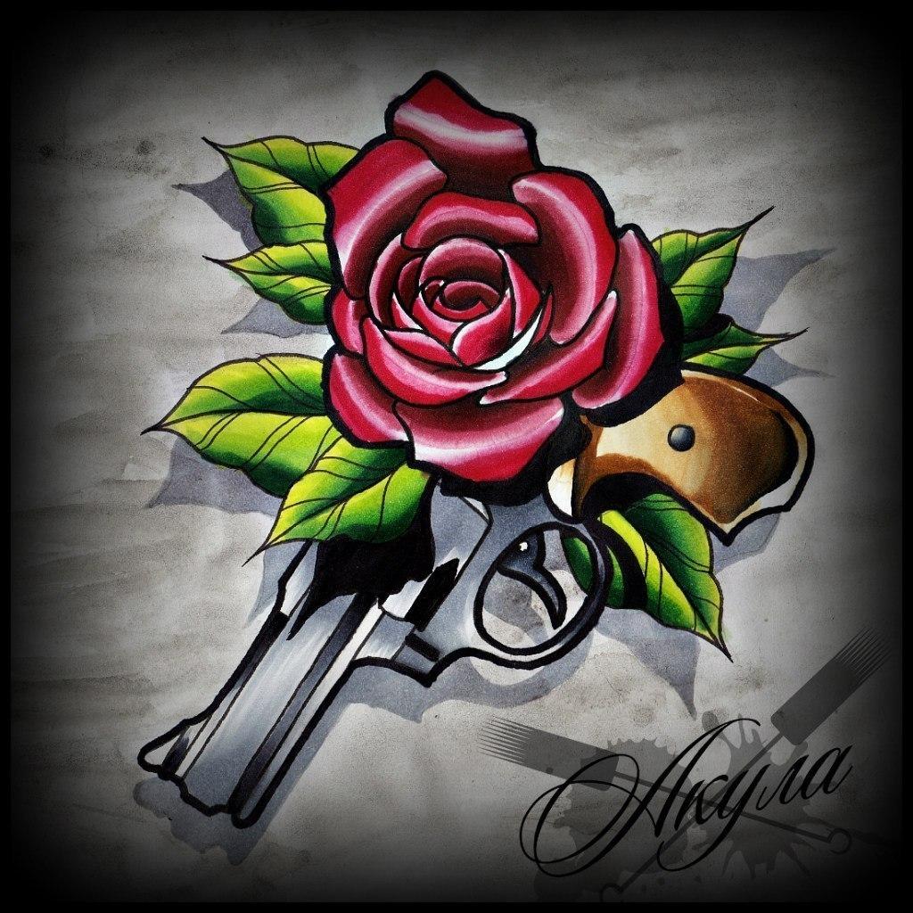 Эскизы татуировок роза фото